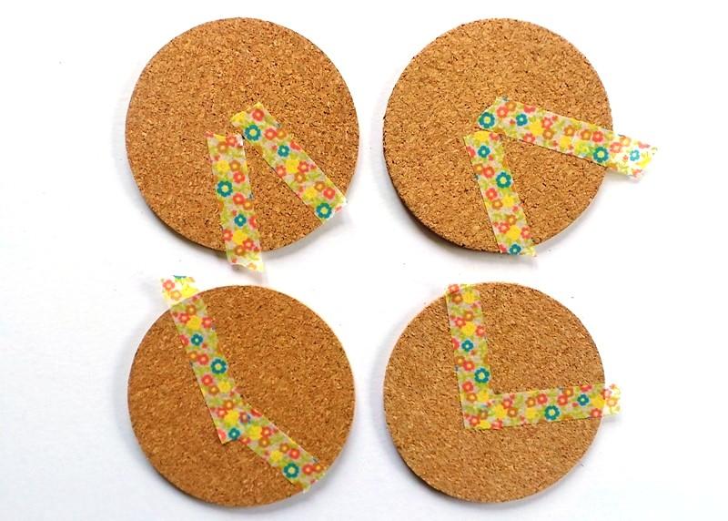 Personalised Pie Chart Cork Coasters at Jennifer Grace Creates
