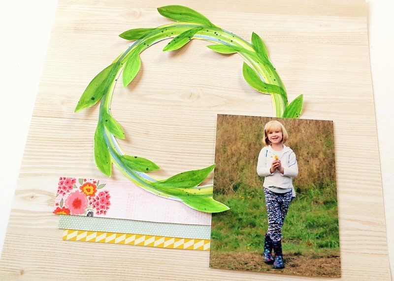 Summer Watercolour Wreath Layout Free Printable at Jennifer Grace Creates