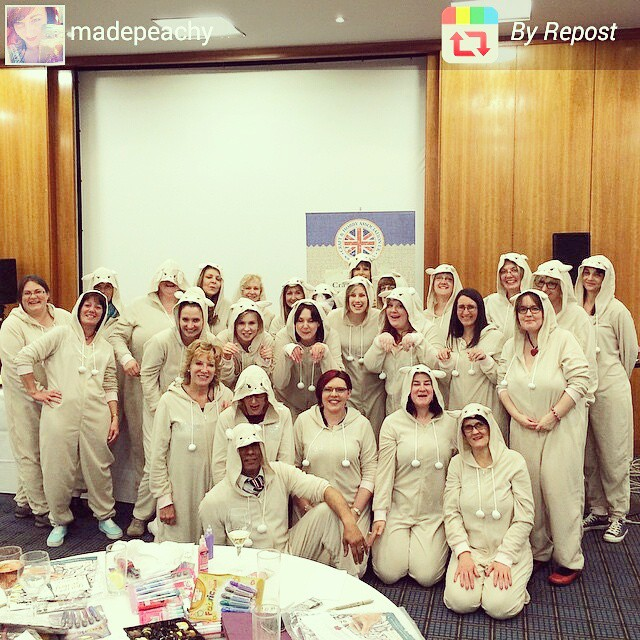 Onesie Party at CHA UK Creative Exchanges