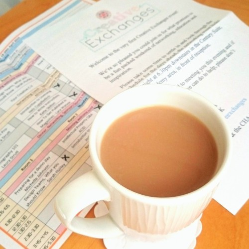 A cup of tea at CHA UK Creative Exchanges 2015