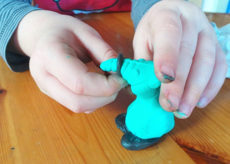 Making Alien Toys With Kids Fimo Moulds at Jennifer Grace Creates
