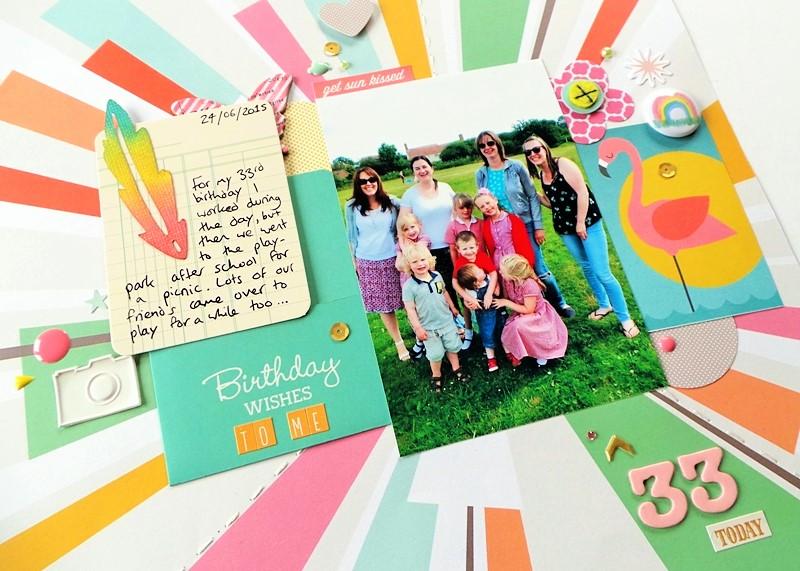Birthday Scrapbook Layout at Jennifer Grace Creates