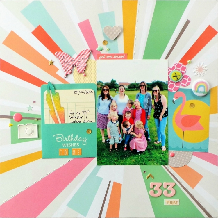 Birthday Scrapbook Layout at Jennifer Grace Creates