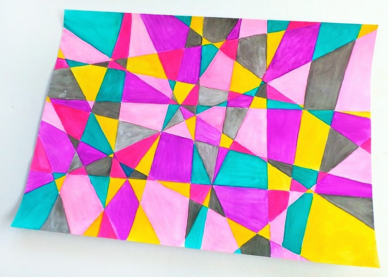 Watercolour Geometric Patterns (18th Birthday Card) at Jennifer Grace Creates