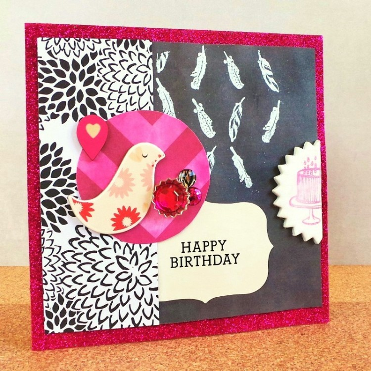 A Black & Hot Pink Card at Jennifer Grace Creates