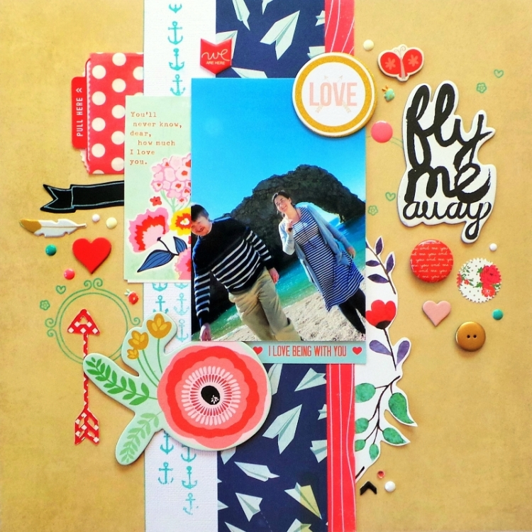 'Fly Me Away' Carefree and Floral Layout Process Video at Jennifer Grace Creates