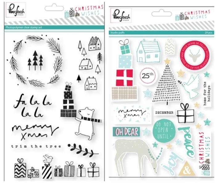 Pinkfresh Studio Christmas Wishes Puffy Stickers