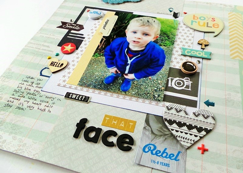 Cute Little Boy Scrapbook Layout at Jennifer Grace Creates