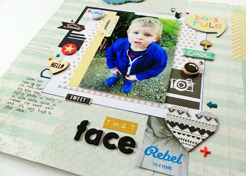 Cute Little Boy Scrapbook Layout at Jennifer Grace Creates