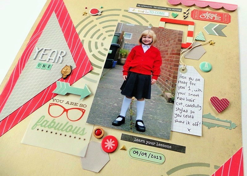 Back To School Scrapbook Layout at Jennifer Grace Creates