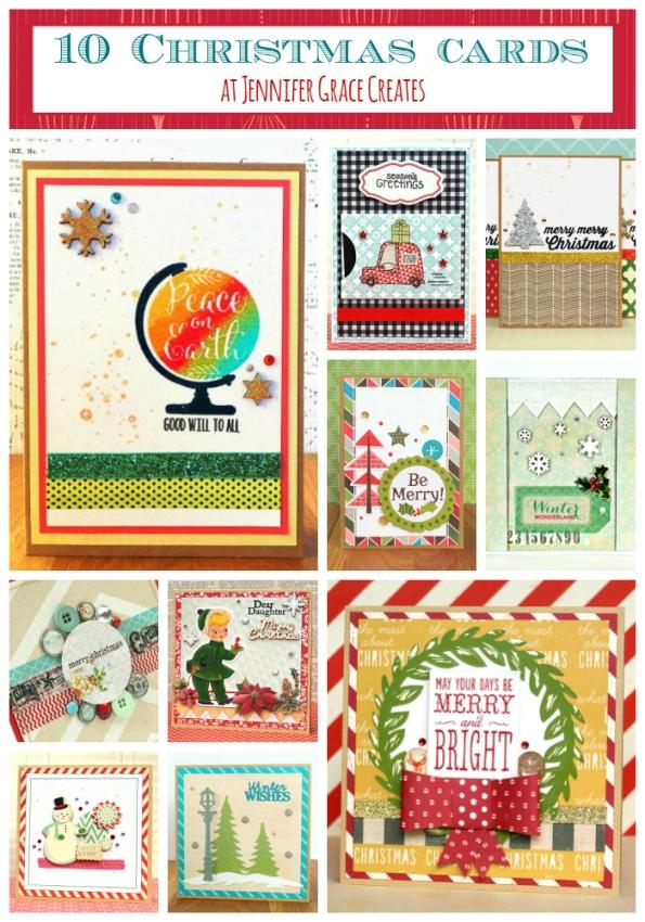 10 Christmas Cards Ideas at Jennifer Grace Creates