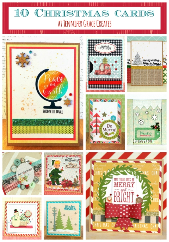 10 Christmas Cards Ideas at Jennifer Grace Creates