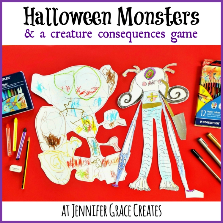 Halloween Monsters and a Creature Consequences Game at Jennifer Grace Creates