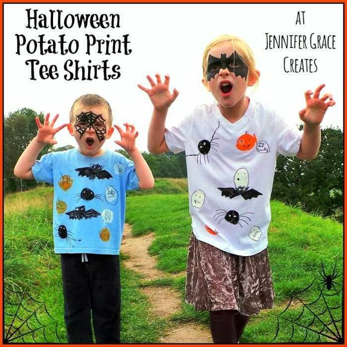 Halloween Potato Print Tee Shirts at Jennifer Grace Creates