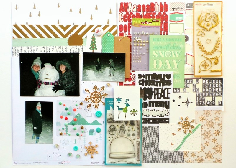 Build a Snowman Layout - Working With Dark Photos at Jennifer Grace Creates