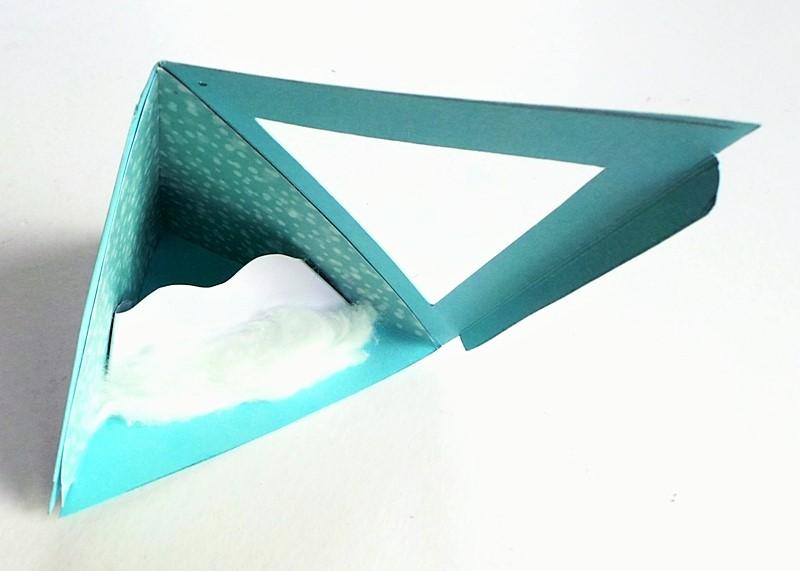 A Winter Scene Triangle Ornament (With Template) at Jennifer Grace Creates