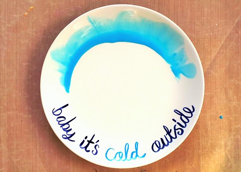 Watercolour & Brush Letter Plate & Mug at Jennifer Grace Creates