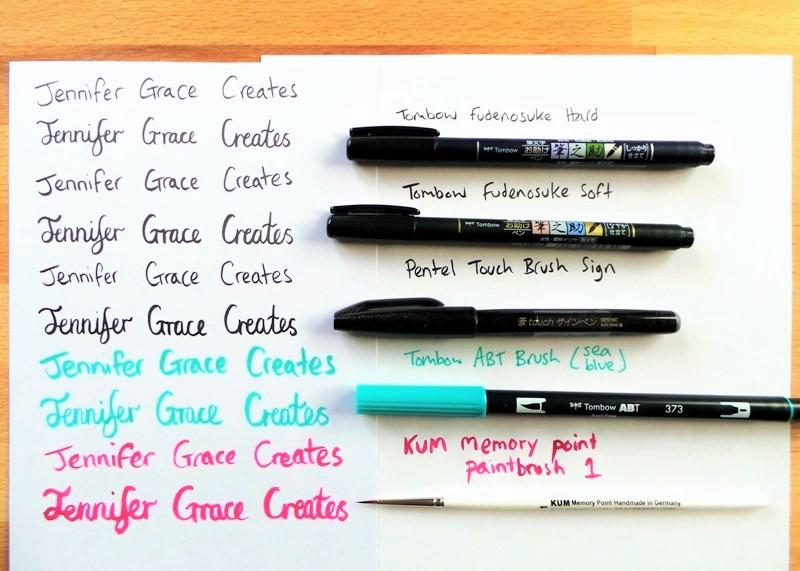 Exploring Brush Lettering and Some Free Christmas Printables at Jennifer Grace Creates