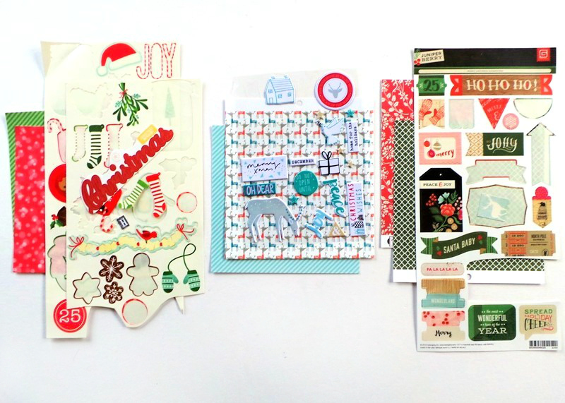 Let The Stickers Be The Stars - Clean And Simple Christmas Cards at Jennifer Grace Creates