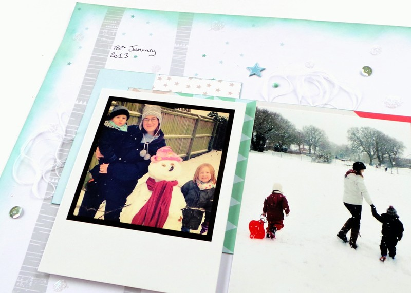 Snow Day Layout at Jennifer Grace Creates