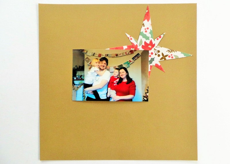 Sweet Xmas Layout with a Christmas Star Template at Jennifer Grace Creates
