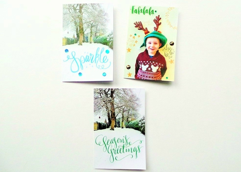 How To Use Digital Overlays To Make Pretty Festive Projects by Jennifer Grace Creates