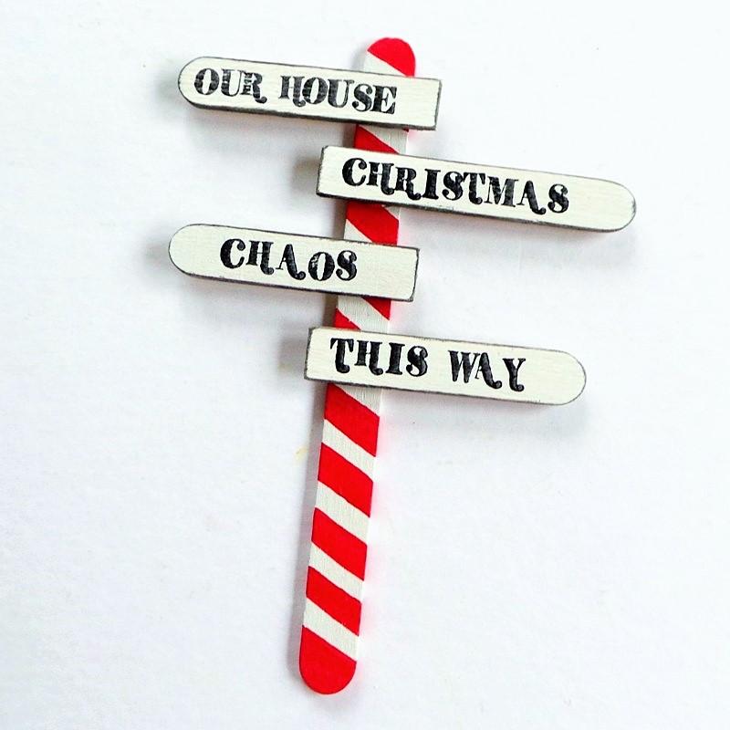 DIY North Pole Signpost made with Craft Sticks at Jennifer Grace Creates