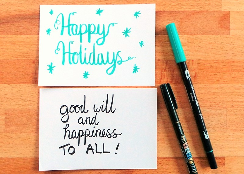 Exploring Brush Lettering and Some Free Christmas Printables at Jennifer Grace Creates