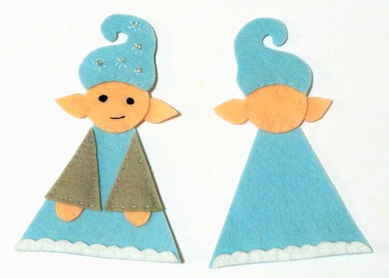 Christmas Elf Cute Felt Onament Template and Tutorial at Jennifer Grace Creates