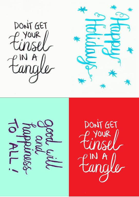 A6 Christmas Phrase Cards Printable at Jennifer Grace Creates