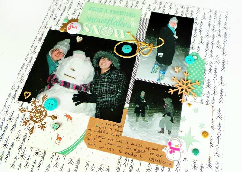 Build a Snowman Layout - Working With Dark Photos at Jennifer Grace Creates