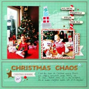 Christmas Chaos Layout with DIY North Pole Signpost at Jennifer Grace