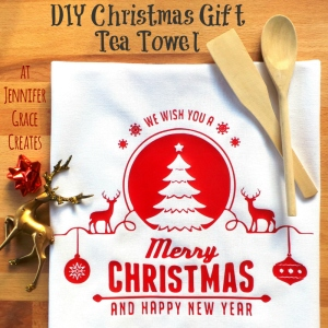 DIY Christmas Gift Tea Towel at Jennifer Grace Creates