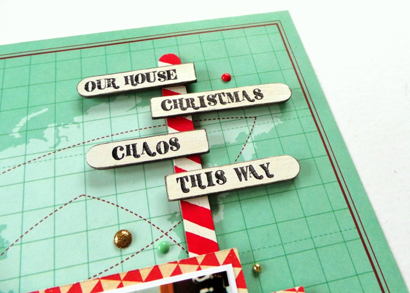 DIY North Pole Signpost made with Craft Sticks at Jennifer Grace Creates