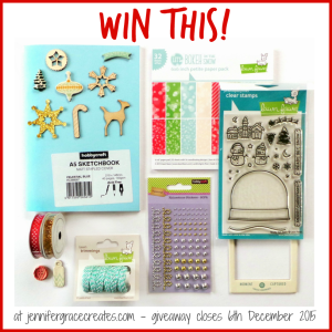 Frosty Festivities 2015 Blog Hop Giveaway at Jennifer Grace Creates