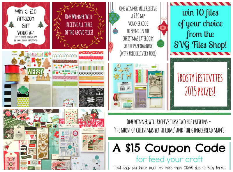 Frosty Festivities 2015 Prizes at Jennifer Grace Creates