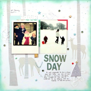 Snow Day Layout at Jennifer Grace Creates
