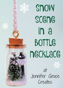 Snow Scene In A Bottle Necklace