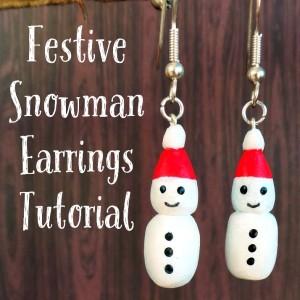 Festive Snowman Earrings Tutorial at Jennifer Grace Creates