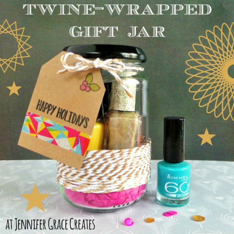 Twine-Wrapped Gift Jar at Jennifer Grace Creates