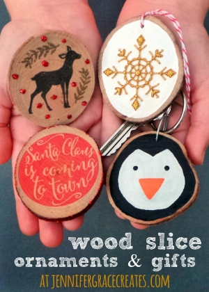 Wood Slice Ornaments And Gifts