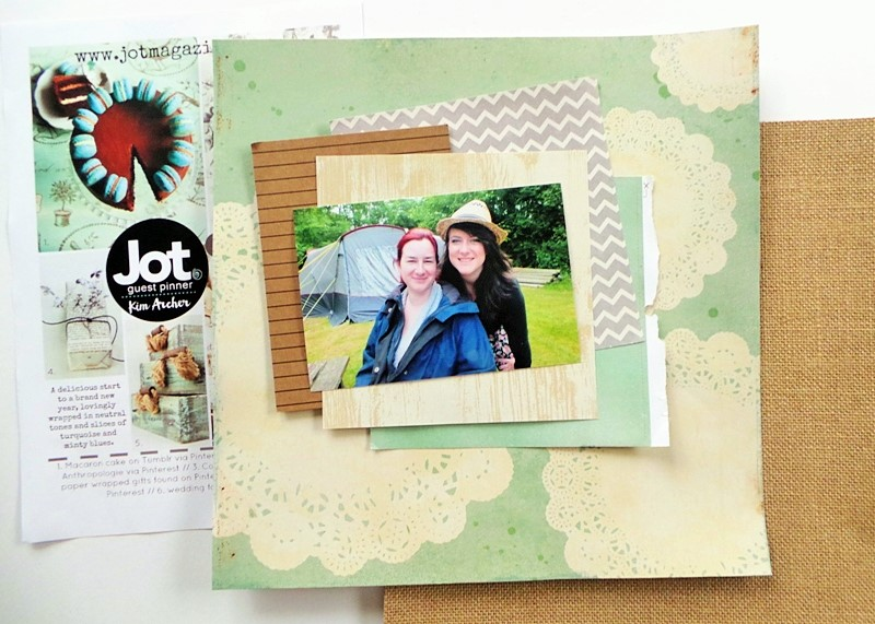 Smile Layout for the Jot Magazine January 2016 Mood Board Challenge