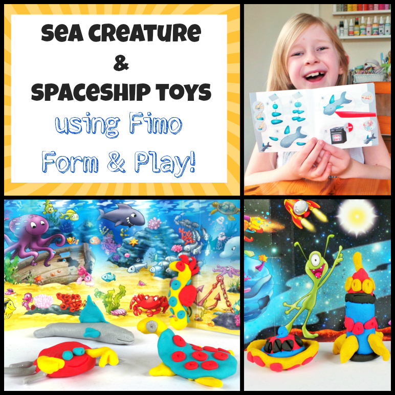 Sea Creature & Spaceship Toys Using Fimo Form & Play at Jennifer Grace Creates