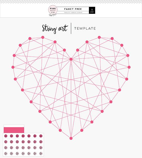 Pink Paislee Fancy Free String Art Template
