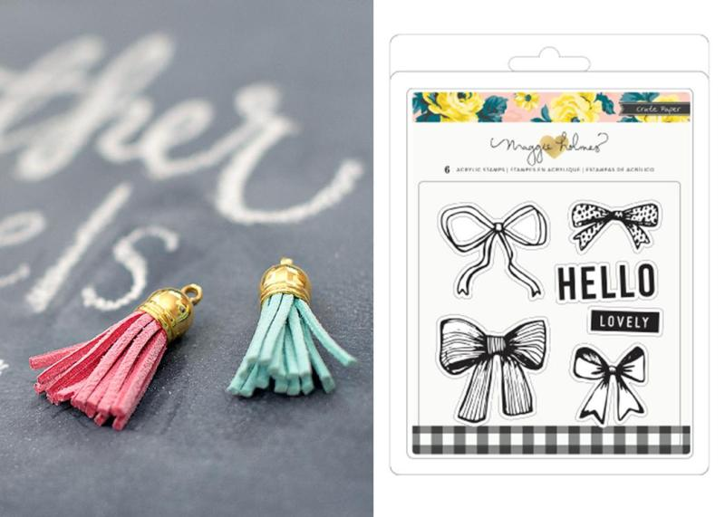 Crate Paper Mini Tassels and Bloom Stamps