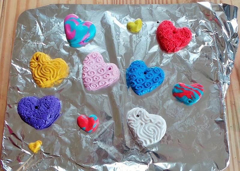 Valentine's Day Fimo Hearts at Jennifer Grace Creates