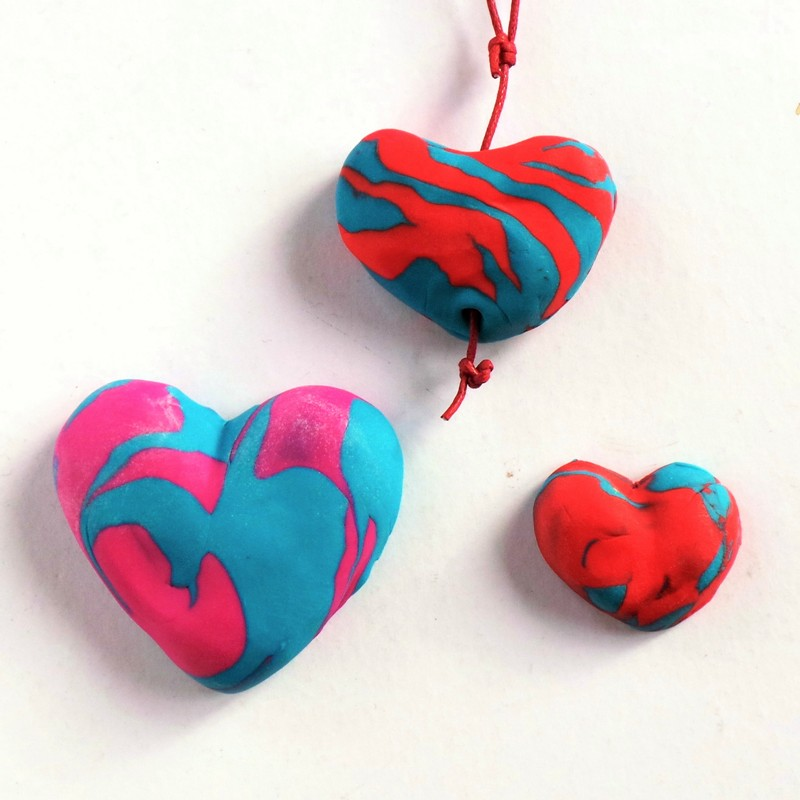Valentine's Day Fimo Hearts at Jennifer Grace Creates