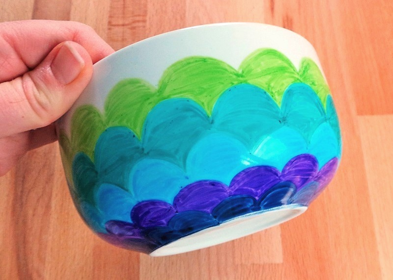 Mermaid Pattern Bowl at jennifergracecreates.com