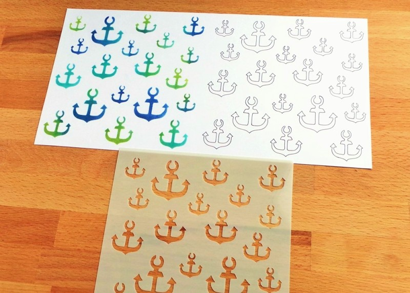 Ahoy There Anchors Stencil Happy Scatter Etsy Shop