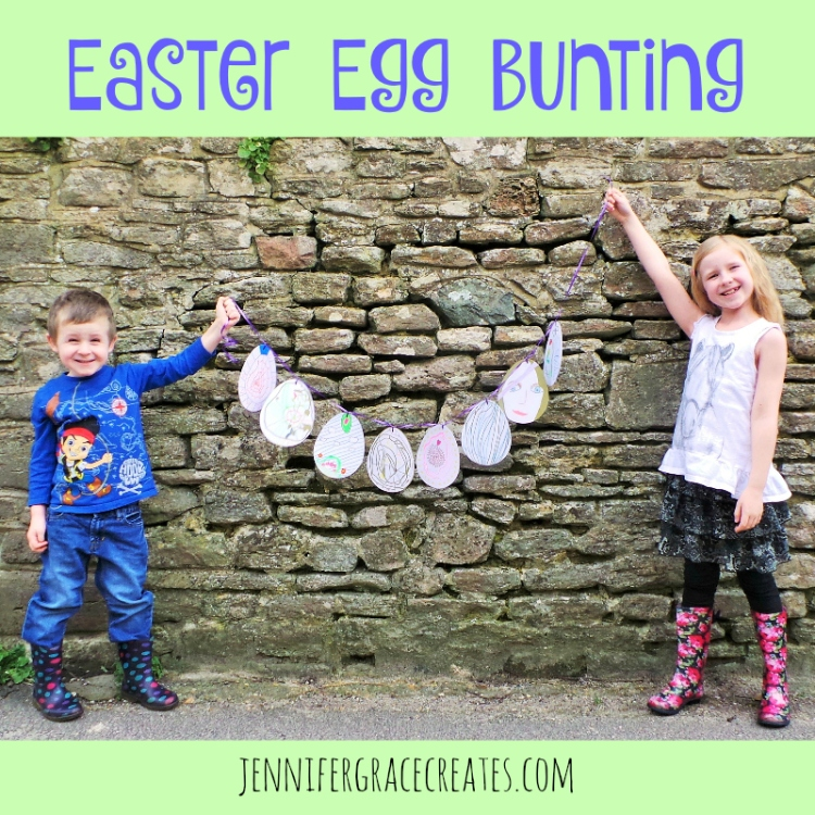 Easter Egg Bunting at Jennifer Grace Creates